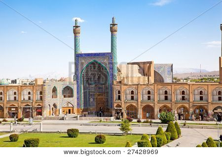 Beautiful Jame Abbasi mosque on Naqsh-i Jahan Square , Esfahan, Isfahan, Iran