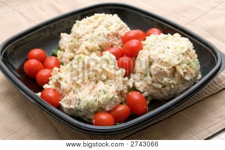 Chicken Salad And Grape Tomatoes