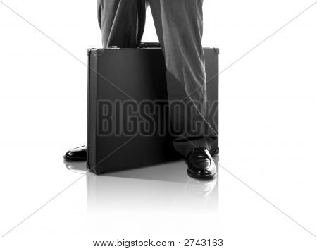 Standing With A Briefcase