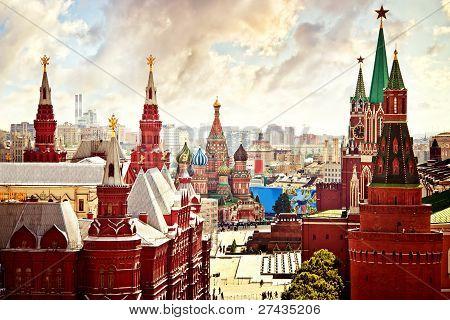 Aerial Kremlin view