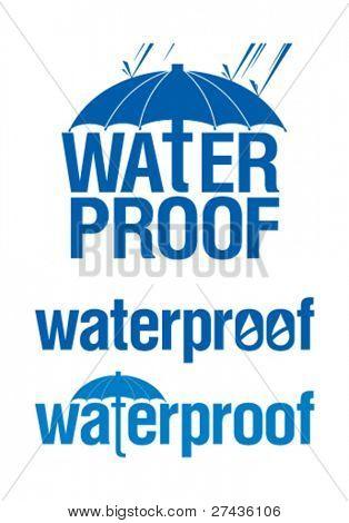 Waterproof signs set.