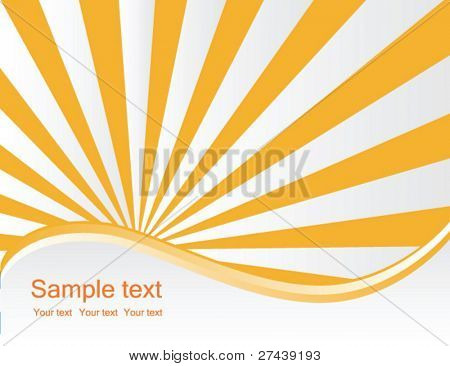 business sunburst vector background