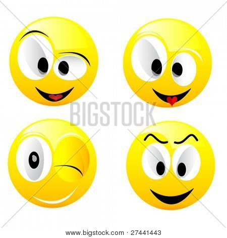 Smiling vector balls