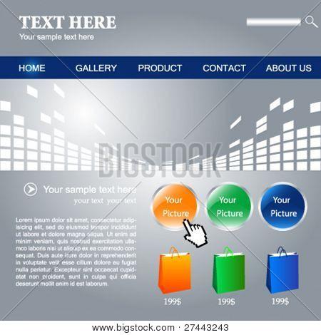 Web site vector design template