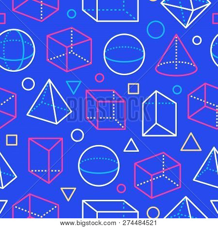 Geometric Shapes Seamless Pattern With