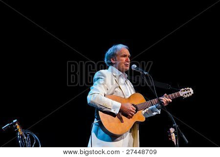 Moscow, Russia - November 17: Russian Bard Aleksey Ivaschenko Performs At Music Home On November 17,
