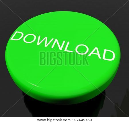 Download Button As Symbol For Downloading Or File
