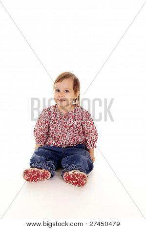 Little Girl On White