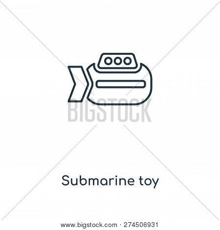 Submarine Toy Icon In Trendy