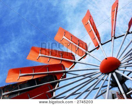 Orange Windmill Blades