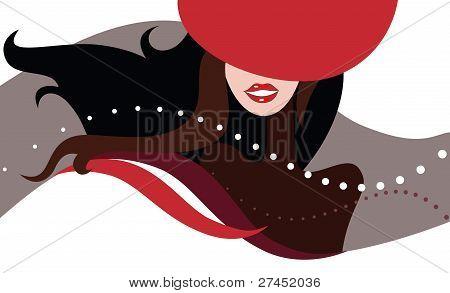 Beautiful Woman in hat