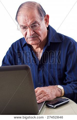 East Indian Man On Computer