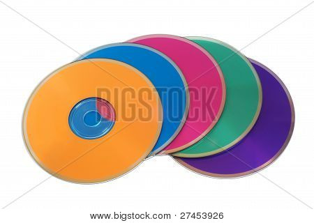 Many Colorful Multimedia Disks