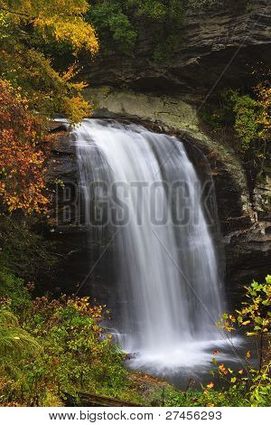 Looking Glass Falls in Autumn