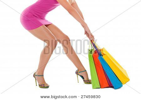shopping woman legs