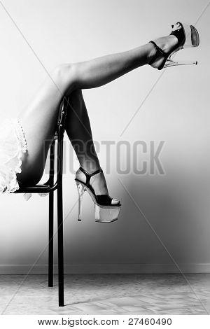 Stripper on chair