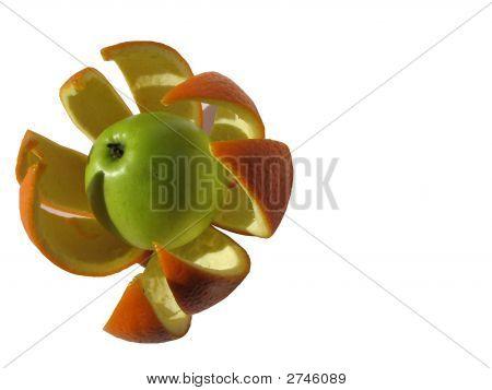 Aplle In The Orange