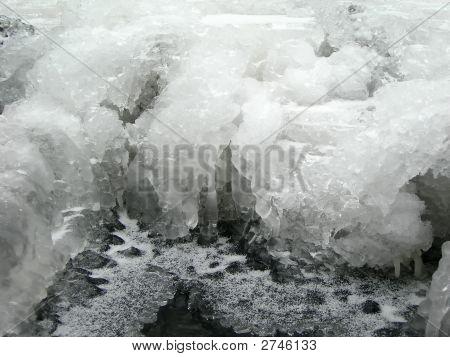Gefrorene Textur