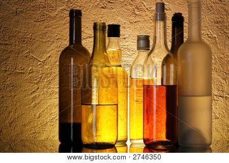 Bottles Of Alcoholic Beverages