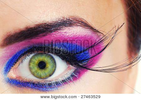 Maquiagem de cor de beleza