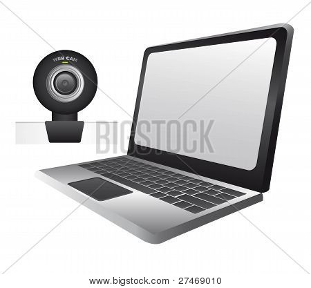 laptop with web cam