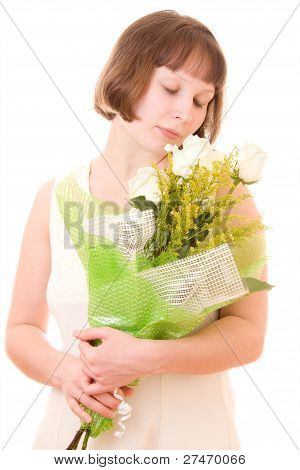 Girl With A Bouquet.