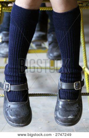 Feet Of Girl In School, Peru