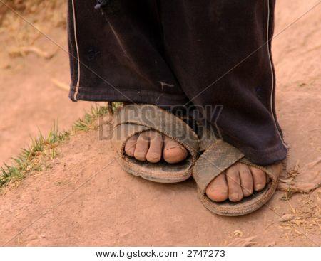 Feet Of Boy In Peru