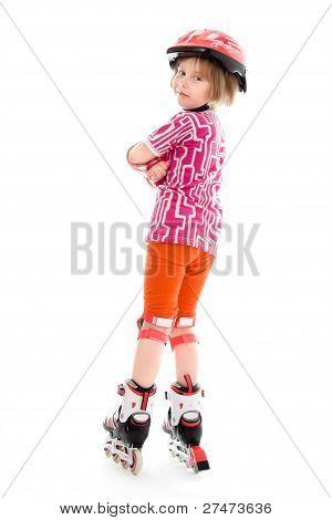 A Girl On Roller Skates.