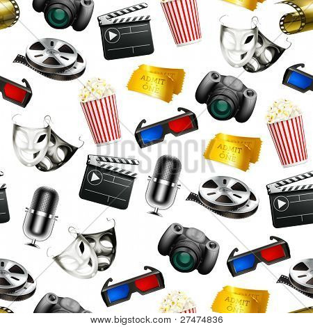Film, vector seamless background