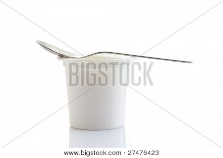 yogurt on white
