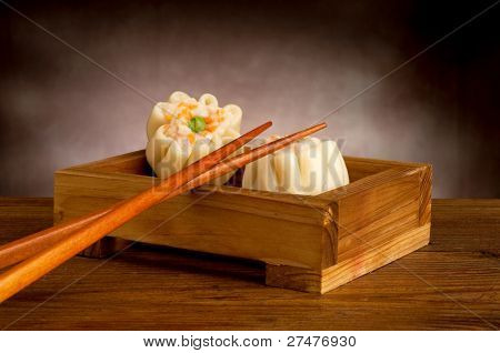 shrimp dim sum with chopstick
