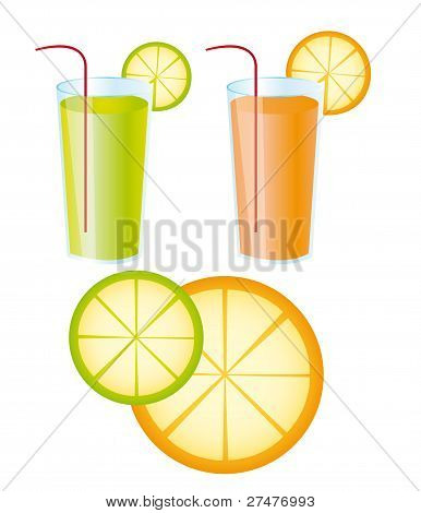 orange and lemon juices