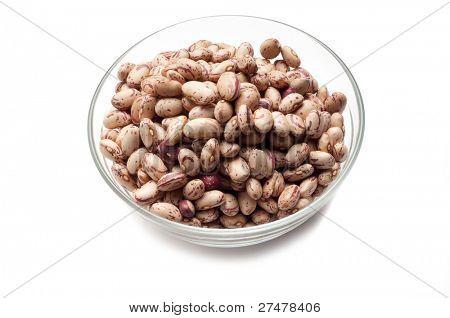 bowl of borlotti beans