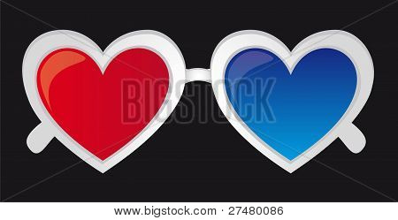 3d heart sunglasses