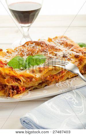 lasagne on dish