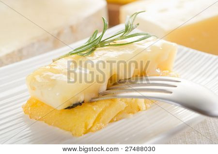 polenta and cheese grilled