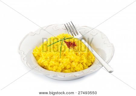 saffron rice on dish