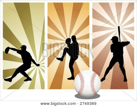 Vector Baseball Players