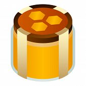 Honey Jar Icon. Isometric Of Honey Jar Vector Icon For Web Design Isolated On White Background poster