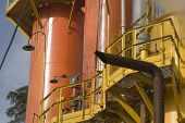 pic of biogas  - Steam Rises From A Smokestack On a Factory - JPG