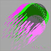 Modern Style Baseball Vector Background With Softballs In Different Colors. poster