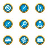 Remedy Icons Set. Flat Set Of 9 Remedy Icons For Web Isolated On White Background poster