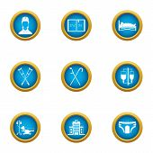 Drug Remedy Icons Set. Flat Set Of 9 Drug Remedy Icons For Web Isolated On White Background poster