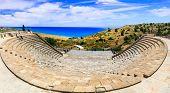 Curium Ancient Theater, (Kourion) - antique landmarks of Cyprus poster