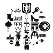 Excellent Wine Icons Set. Simple Set Of 25 Excellent Wine Icons For Web Isolated On White Background poster