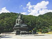 Big Buddha Statue At Seoraksan National Park. South Korea poster