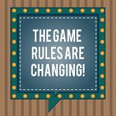 Conceptual Hand Writing Showing The Game Rules Are Changing. Business Photo Text Changes In Establis poster