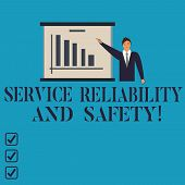 Conceptual Hand Writing Showing Service Reliability And Safety. Business Photo Showcasing Warranty A poster
