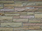stock photo of fieldstone-wall  - Photo of a masonry field stone wall - JPG